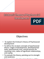 Erickson's Theory of Psychosocial Development
