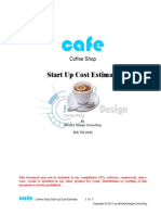 Coffee Shop Start Up Free Estimate