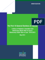 First 10 General Elections of Pakistan