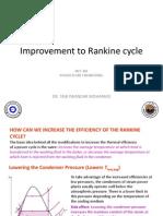 Improvement to Rankine Cycle