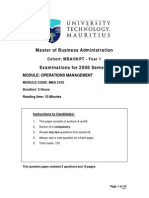 Mba 2105operations Management 08-09