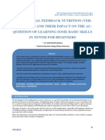 The External Feedback Nutrition(Verbal-Visual) and Their Impact on the Acquisition of Learning Some Basic Skills in Tennis for Beginners.odt