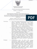 Permendagri No 70 Tahun 2014