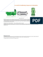 Refrigeration Compressors and Air Conditioning Compressors Information