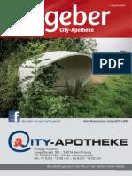 Ratgeber aus Ihrer City-Apotheke – Oktober 2014