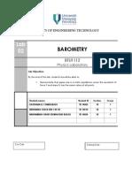 Lab 1 (Barometer)