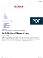 """""""The Difficulties of Migrant Women - Mon Human Rights"""""""