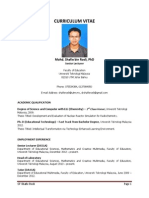 CV Dr. Shafie Rosli