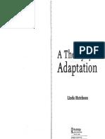 Hutcheon Theory of Adaptation