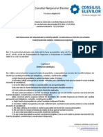 Metodologie Alegeri CNE 2014-2015