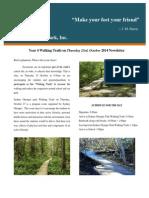 year 4 walking trails on thursday 23rd october 2014 newsletter