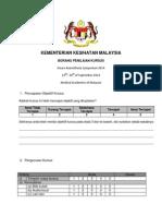 Borang Maklum Balas Simposium Neuroanestesia 2014