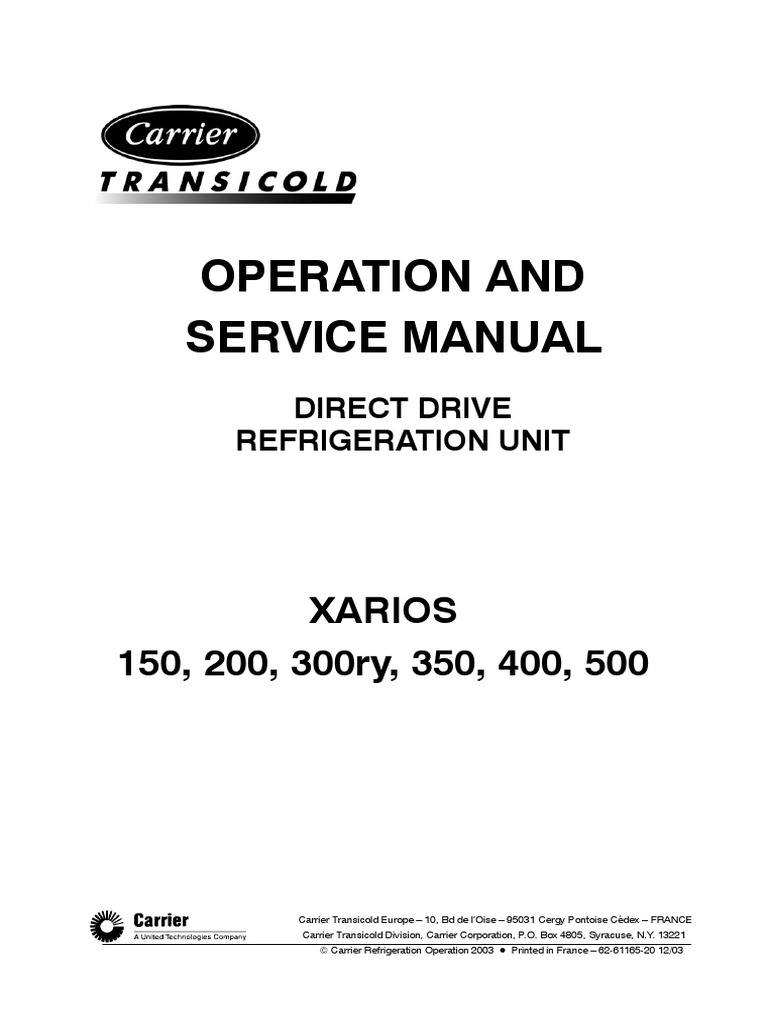1509977118 transicool carrier xarios technical manual electrical  at n-0.co