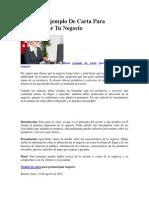 Excelente Ejemplo De Carta Para Promocionar Tu Negocio.docx