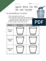 Science Solid Liquid Solids in Liquids