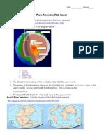 plate tetonics webquest