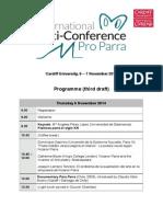 Parra Programme Cardiff