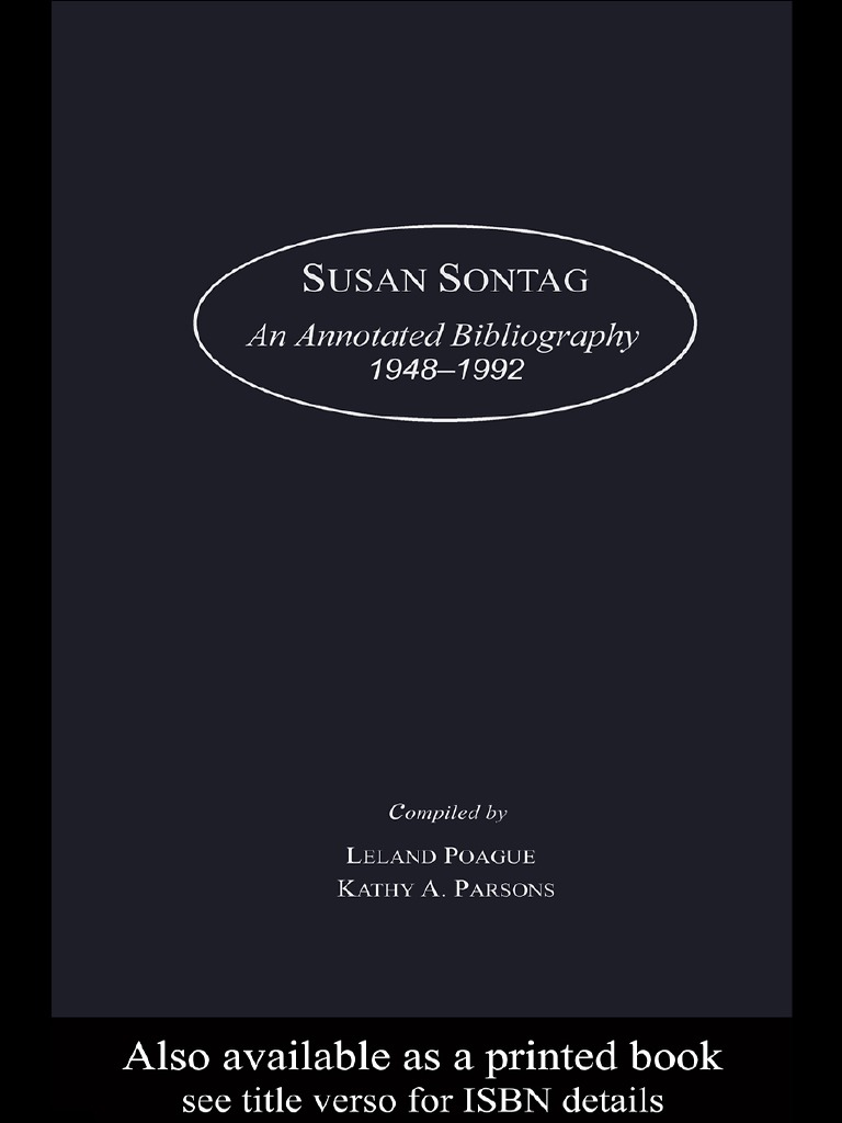 Susansontaganannotatedbibliography194819922000pdf thesis susansontaganannotatedbibliography194819922000pdf thesis books fandeluxe Gallery