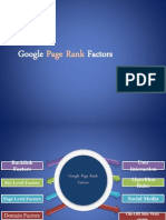 Google Page Rank Factors