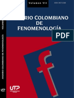Anuario Colombiano de Fenomenología Vol VII