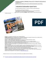 Modbus Protocol Quick Facts