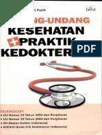 Undang-Undang Kesehatan Dan Praktek Kedokteran