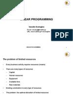 Linear Programming Theory