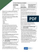 Flu Facts 2014 - 2105