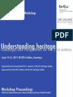 PhD Workshop Understanding Heritage (Cottbus, 2012)