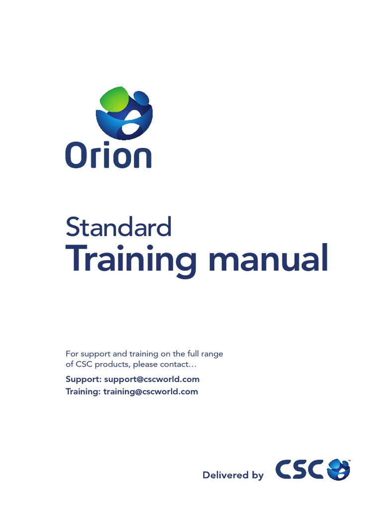 orion standard training manual beam structure column rh scribd com Training Manual Cover Training Manual Examples