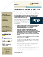 UWM Economic Scorecard 2014 3rd Quarter