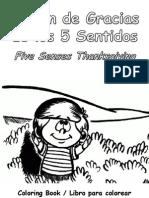 Acción de Gracias de Los 5 Sentidos Libro Para Colorear - Five Senses Thanksgiving Coloring Book