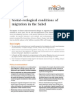 Social-ecological conditions of migration in the Sahel