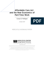 The Affordable Care Act and the New Economics of Part-Time Work