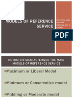 models of reference service