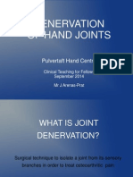 Denervation of Hand Joints