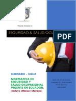 Seminario Taller Normativa de Seguridad y Salud Ocupacional Vigente Octubre 2 014