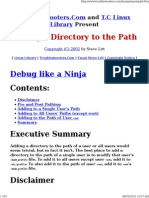 Adding a Directory to the Path