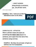 Commas Notes