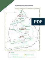 Mapa físico de la división de cuencas y caseríos en el distrito de Pamparomas.docx