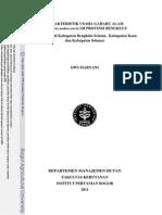 KARAKTERISTIK USAHA GAHARU ALAM (Aquilaria malaccensis) DI PROVINSI BENGKULU