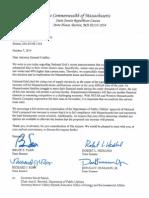 Senate Republican Caucus Letter RE Electric Rates 10.7.2014