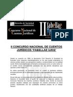 Bases del II Concurso Nacional de Cuentos Jurídicos 'Fabellae Iuris'