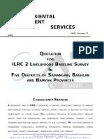 OMS_QuotatioN for ILRC II Livelihood Baseline Survey