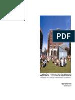 Comunidad y privacidad en densidad