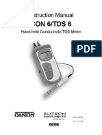 Oakton Con 6 Conductivity Meter Manual