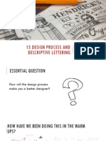 15 desing process and descriptive letterning