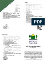 Parent Leaflet - Year 1