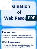evaluation of web resources