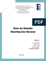 Guia de Estadistica Distribución Normal